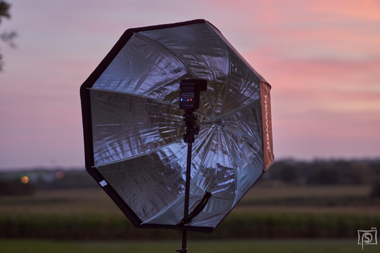 Neewer Octabox 80 cm mit einem Blitz