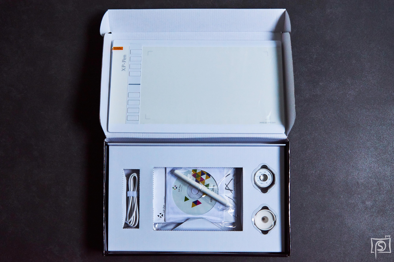 XP-Pen Verpackung geöffnet