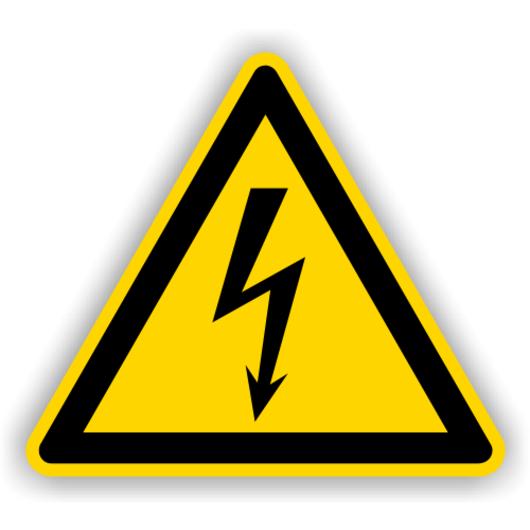 Vorsicht - Leitung unter Strom