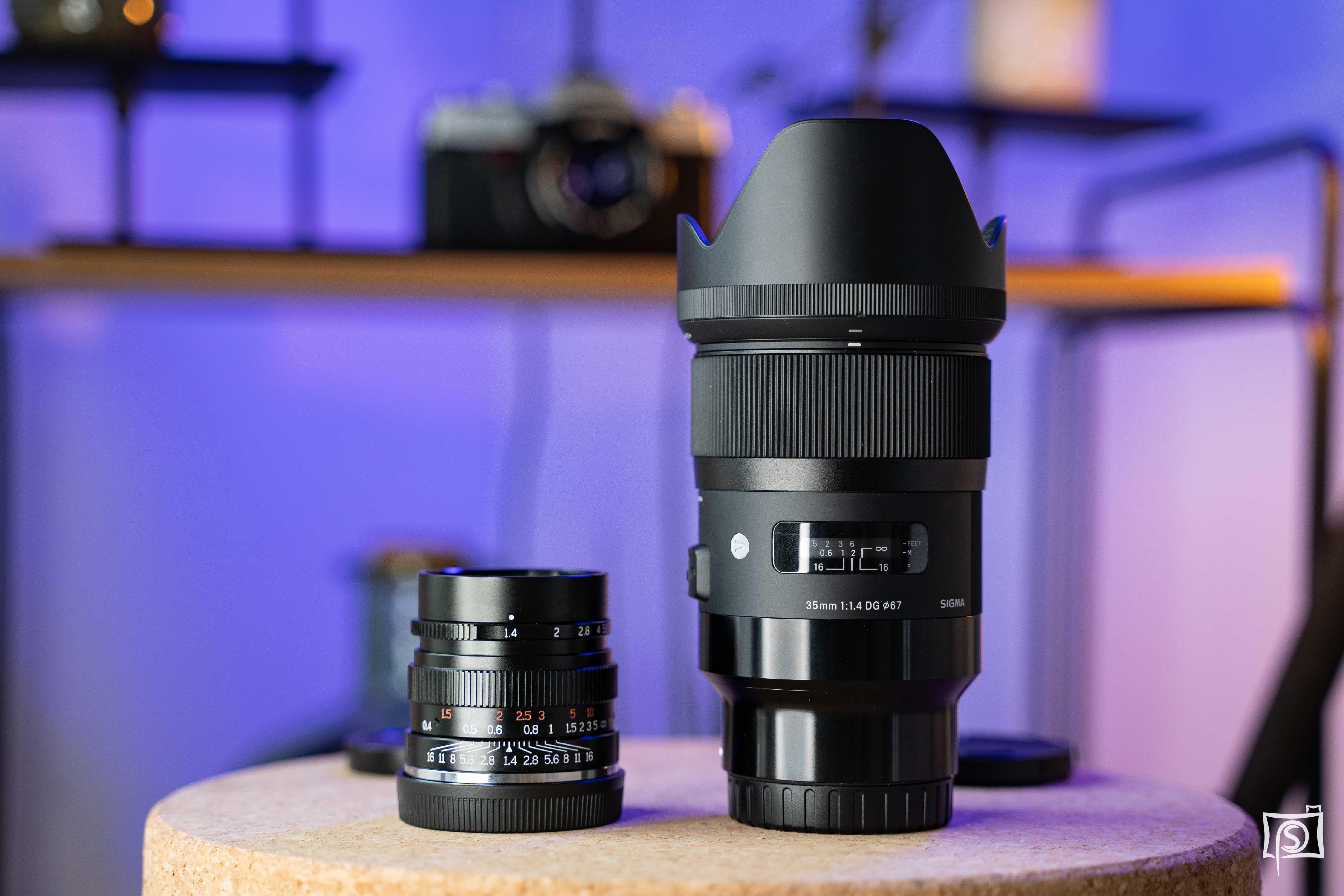 Vergleich Sigma 35mm und 7Artisans für E-Mount