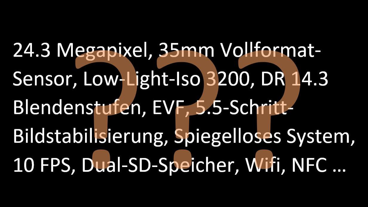 Welche Kamera sollte ich kaufen? Was bedeuten die Zahlen und Werte ...