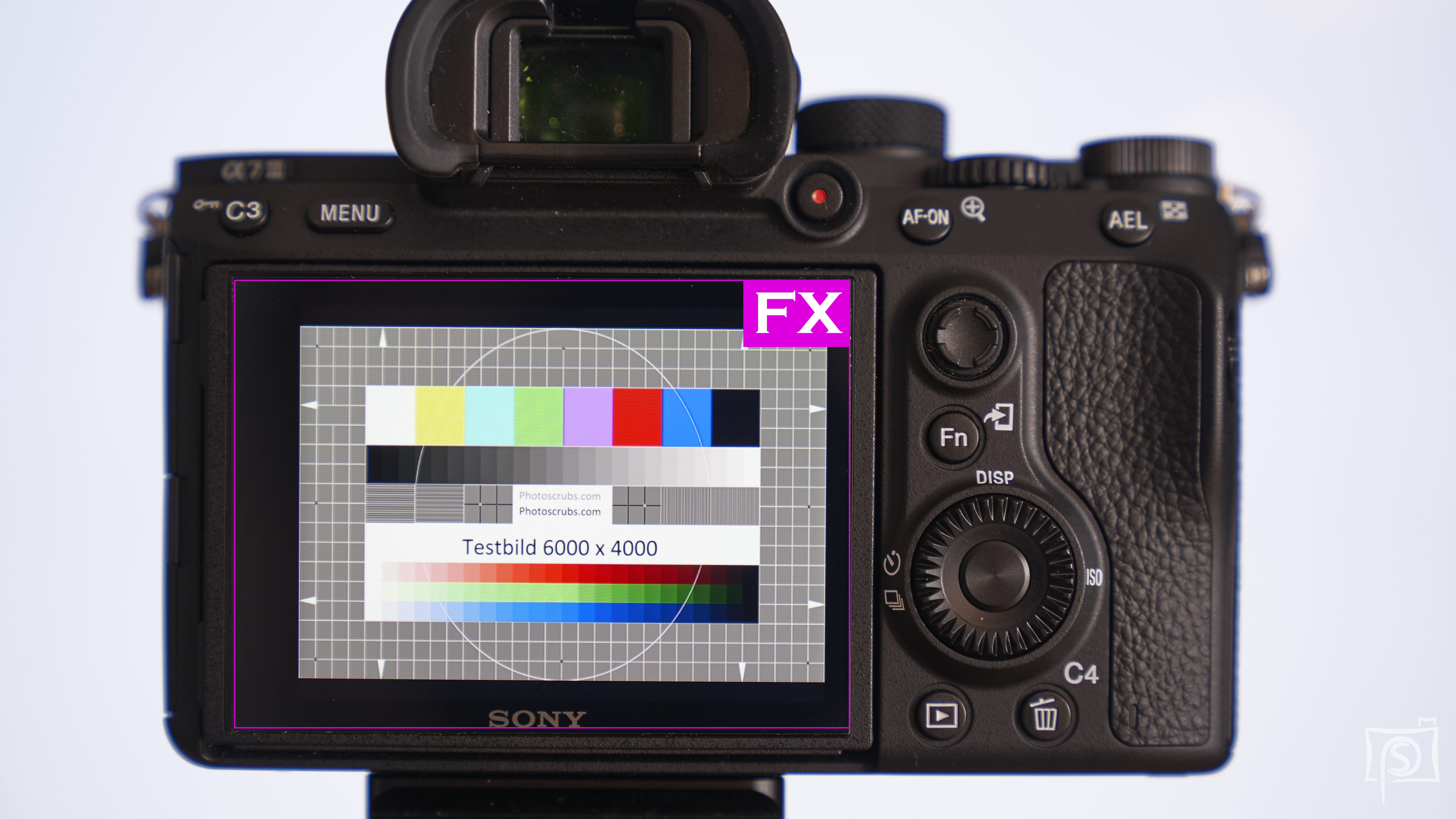 A7III mit Displayschutzfolie